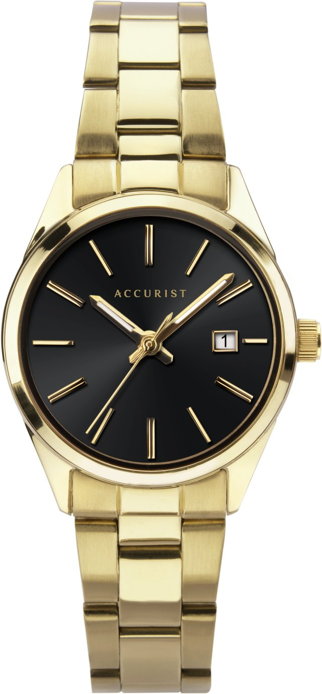 Accurist Ladies Gold Plated Bracelet Watch