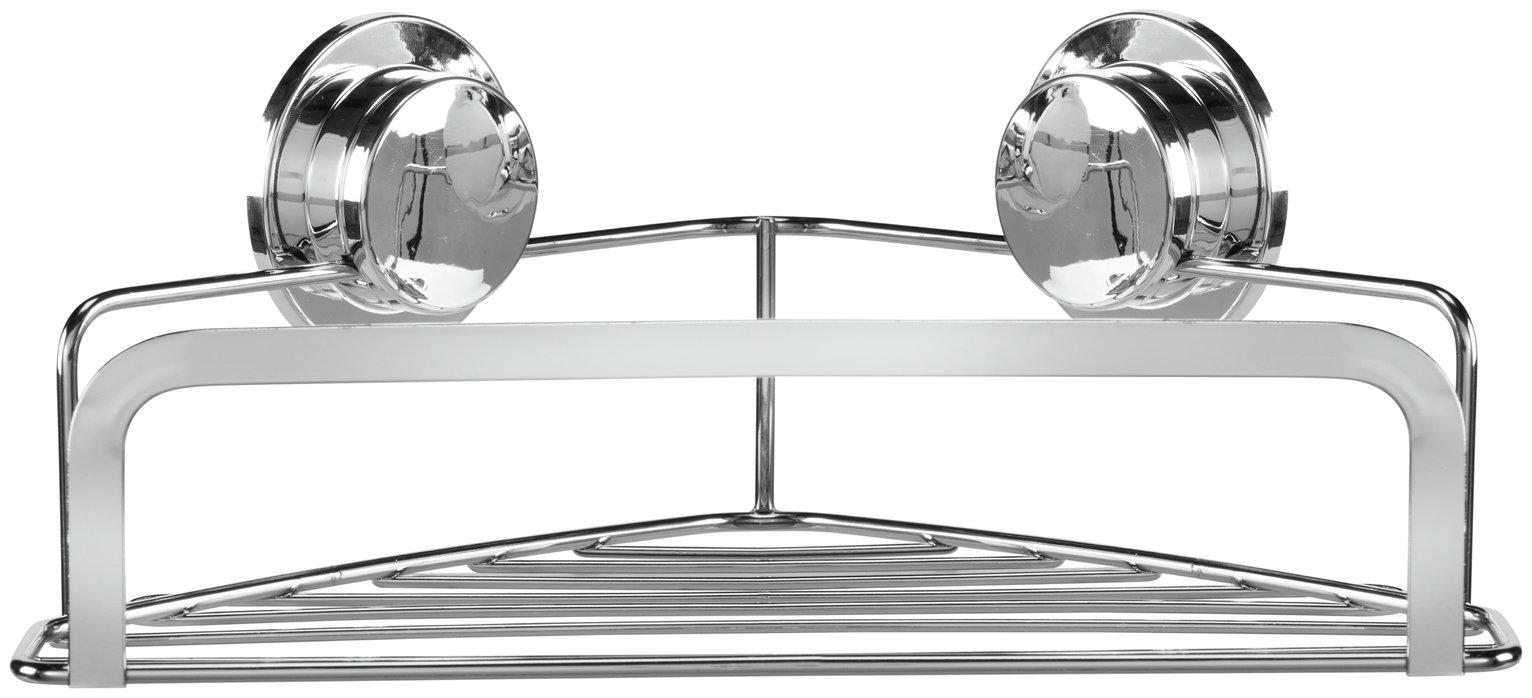 Croydex Stick 'N' Lock Corner Basket
