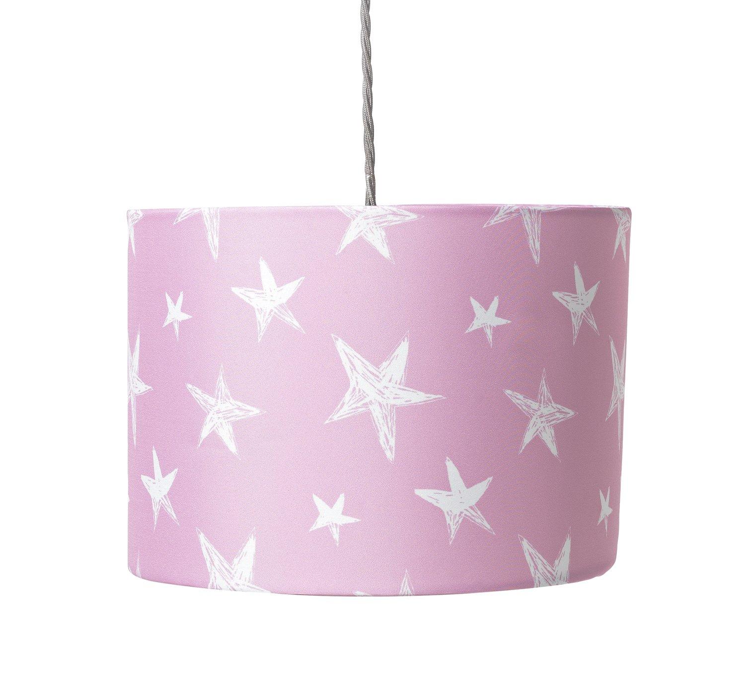 Argos Home Star Print Shade - Pink