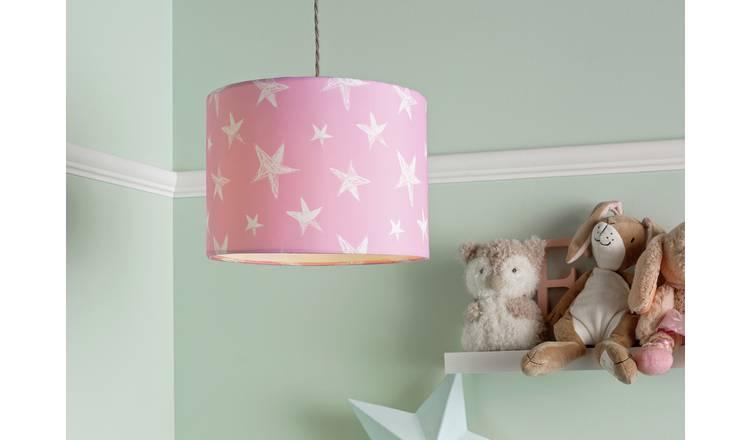 Buy Argos Home Star Print Shade Pink