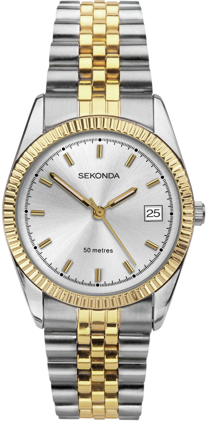 Sekonda Men's Two Tone Gold Plated Bracelet Watch