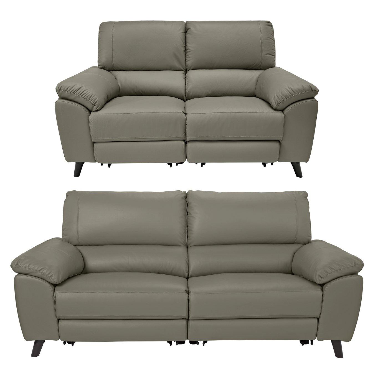Argos Home Elliot 2 Seater & 3 Seater Recliner Sofa - Grey