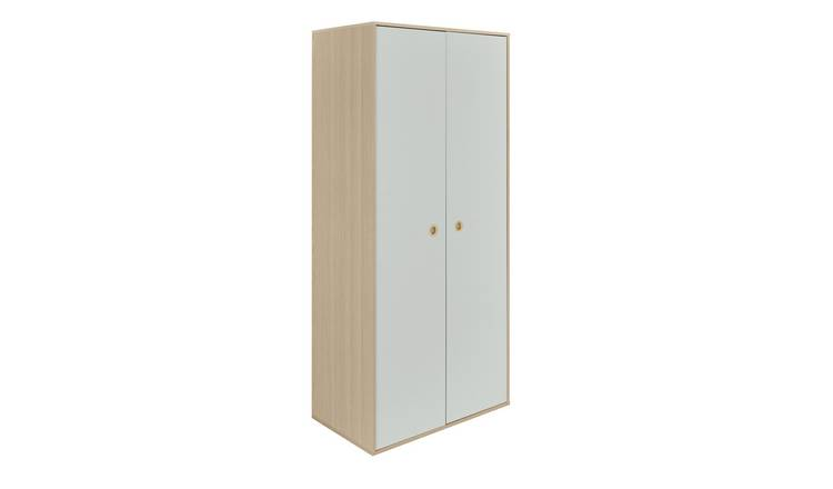 Argos Home Camden 2 Door Wardrobe - Grey & Acacia