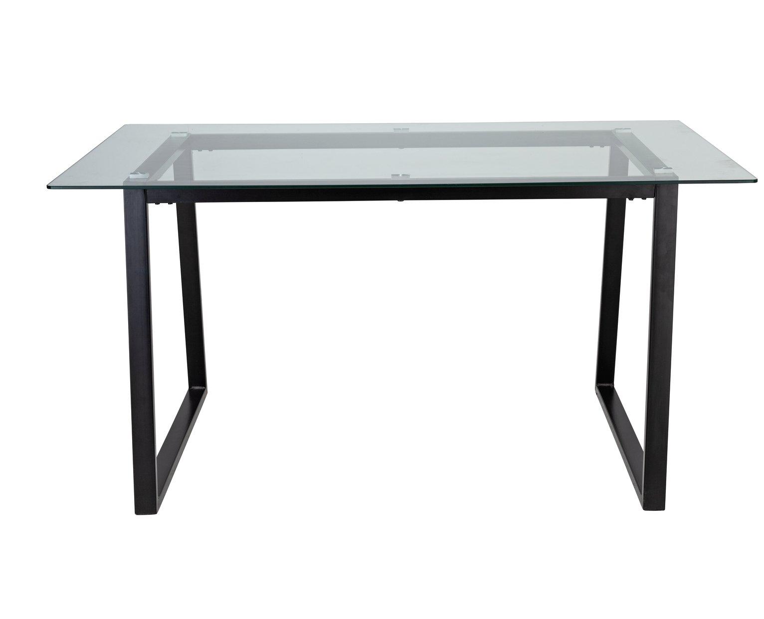Argos Home Lazio Glass 4 Seater Dining Table