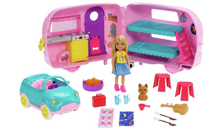 Barbie Club Chelsea Camper with Doll & Accessories Playset