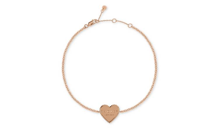 Radley 18ct Rose Gold Plated Sterling Silver Heart Bracelet