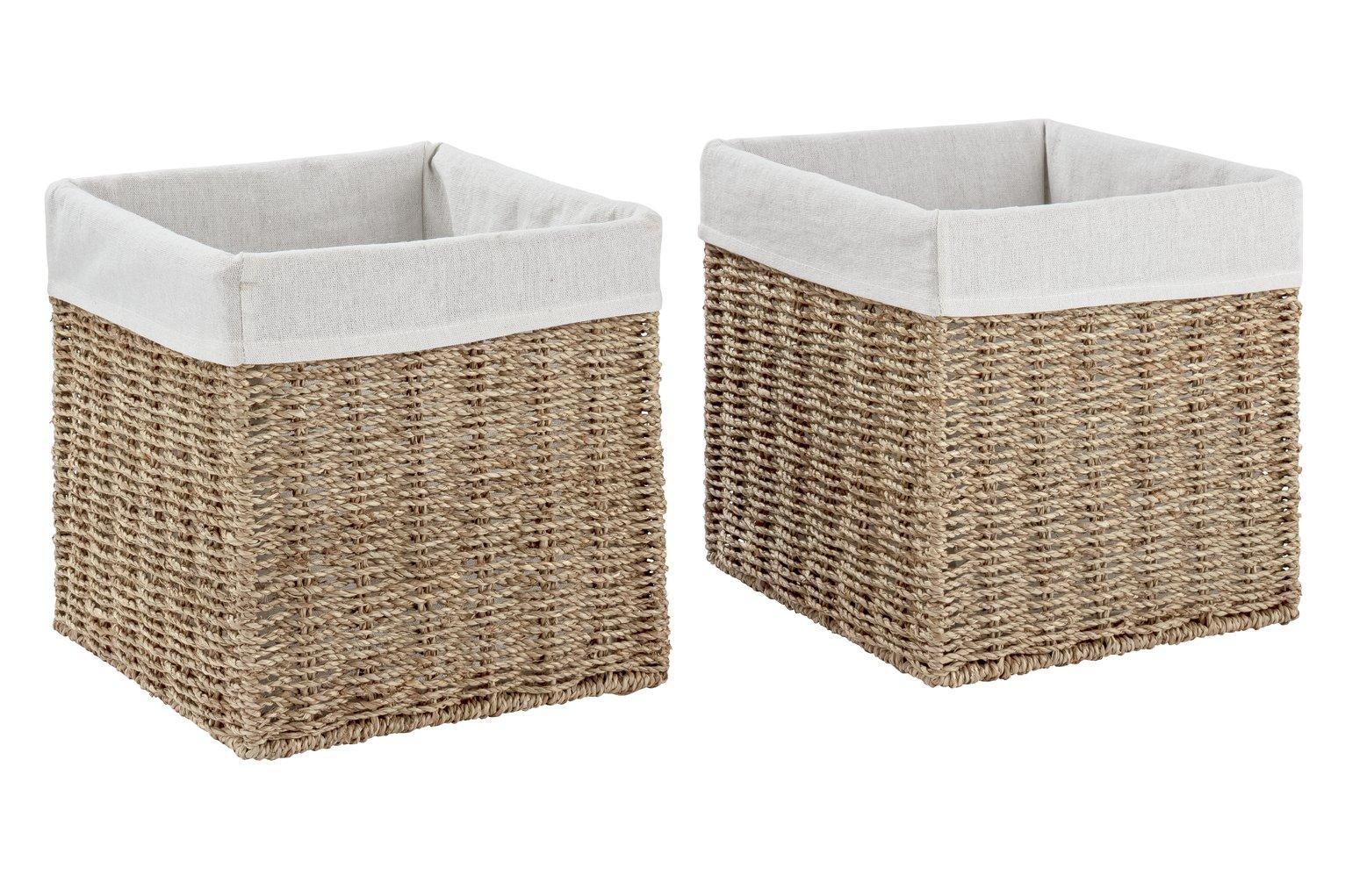 Argos Home Set of 2 Rope Storage Baskets