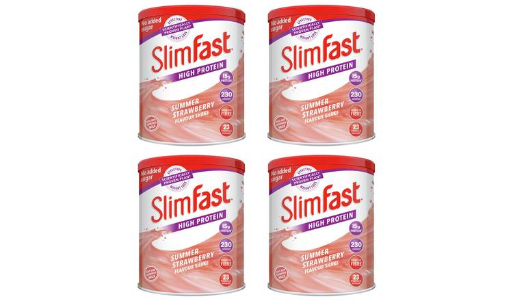 SlimFast Summer Strawberry Shakes - Pack of 4