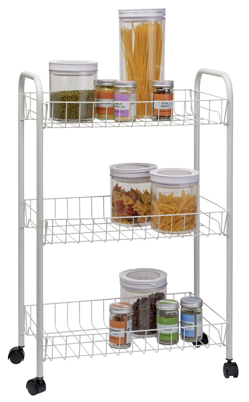 Argos Home 3 Tier Kitchen Storage Trolley - White