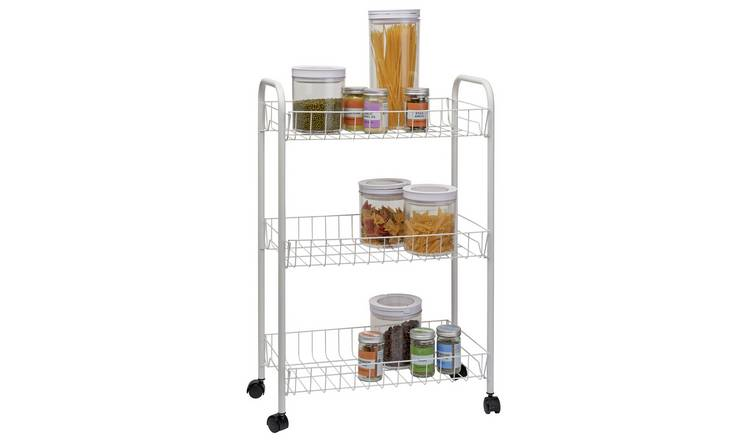Argos Home 3 Tier Kitchen Storage Trolley - White