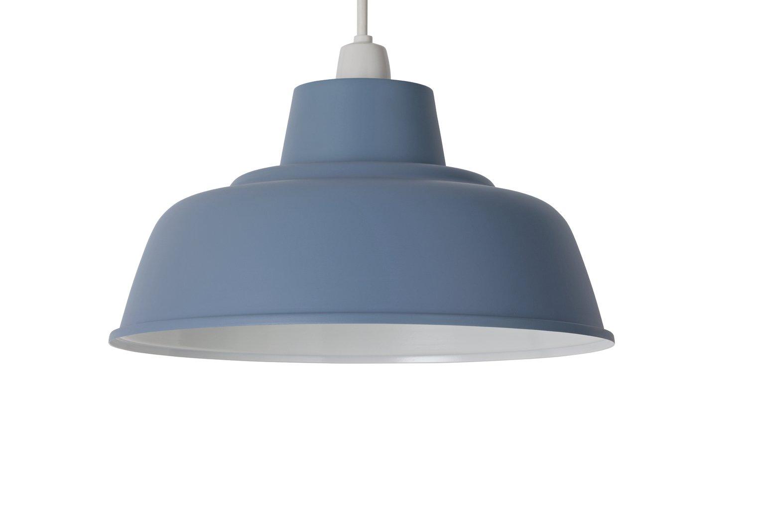 Argos Home Metal Shade - Cornflower Blue