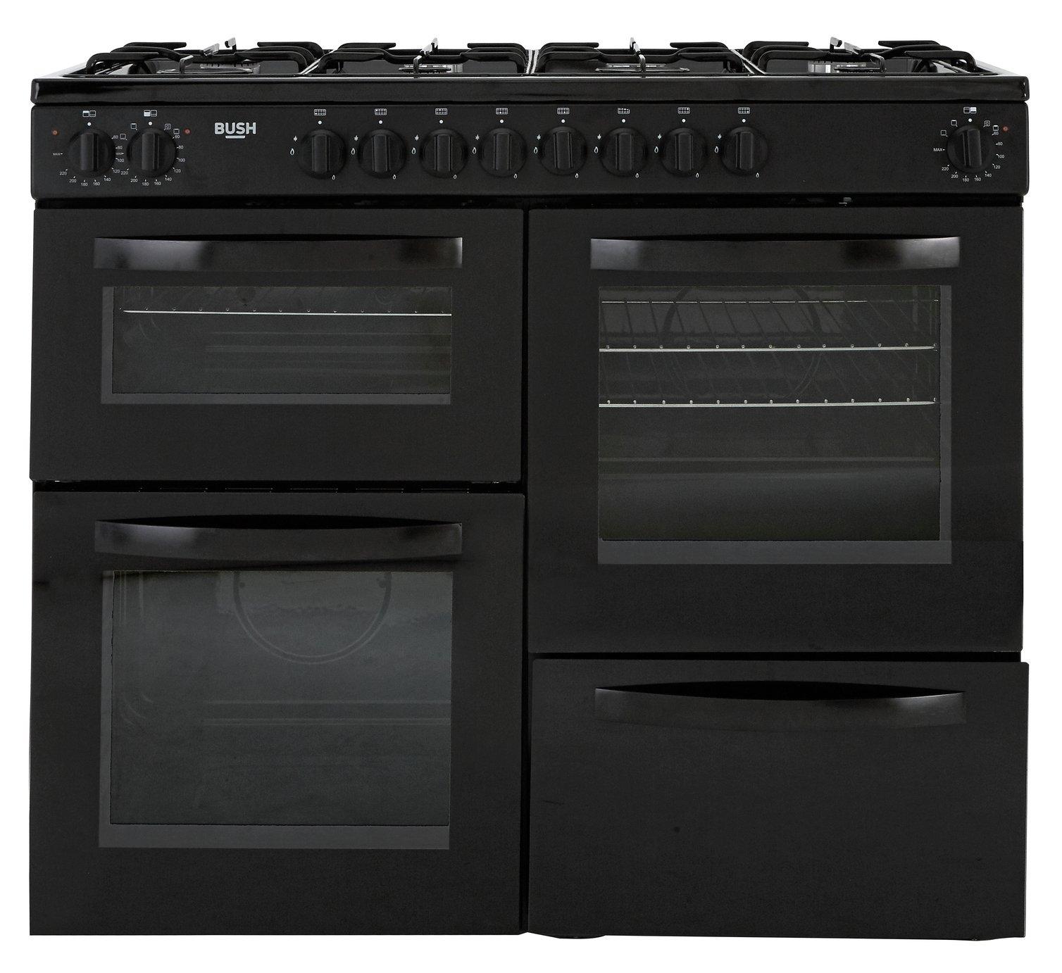 Bush BRC100DHEB 100cm Dual Fuel Range Cooker - Black