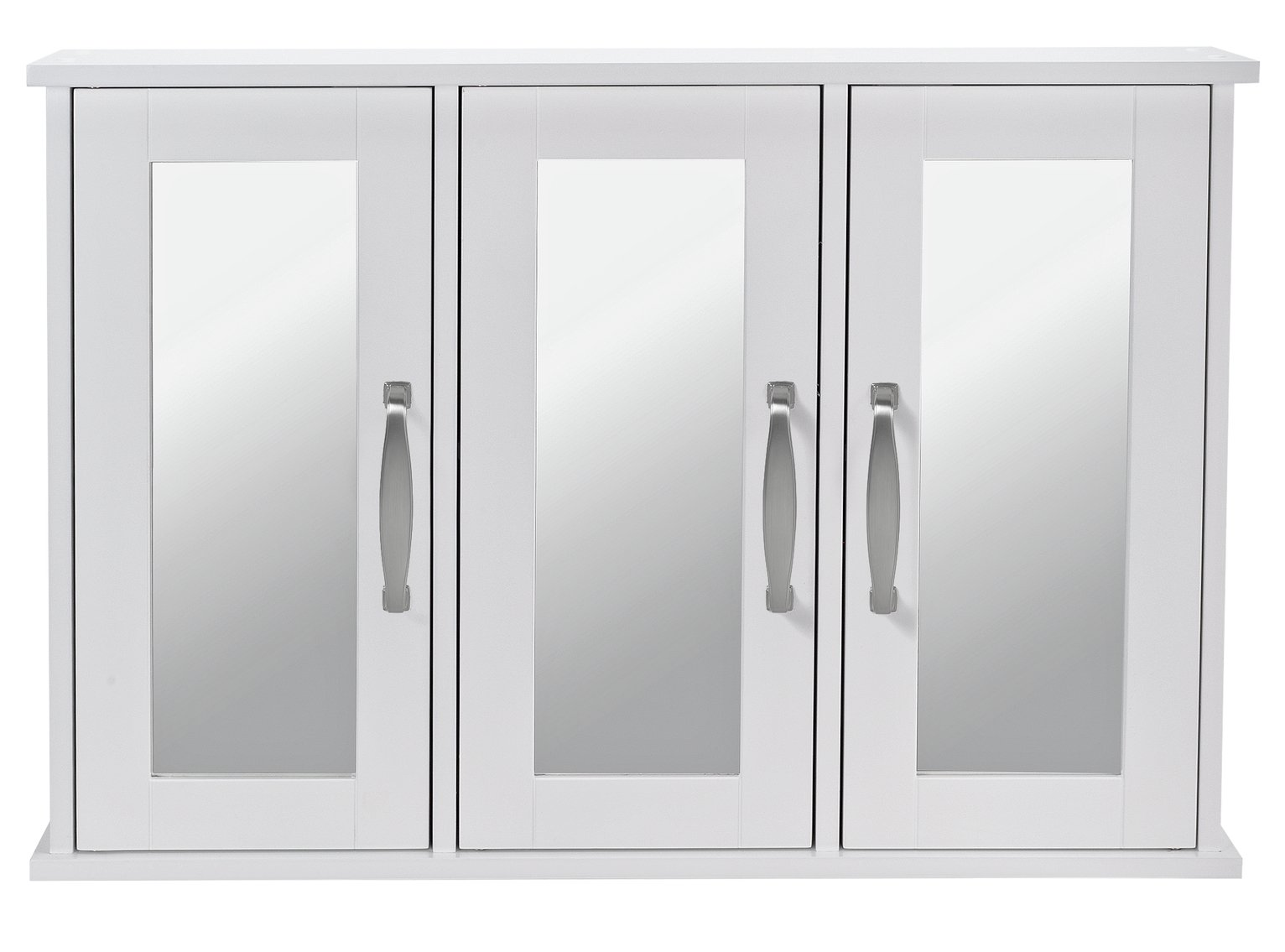 Argos Home Tongue and Groove Triple Mirrored Cabinet - White