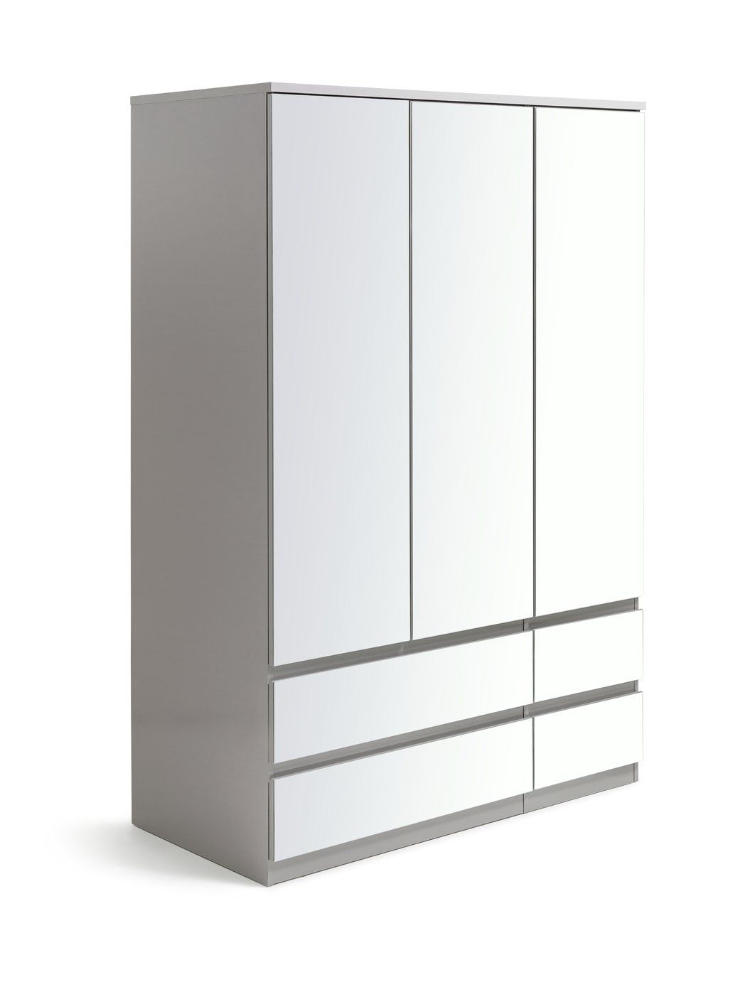 Argos Home Jenson 3 Door 4 Drawer Mirrored Wardrobe