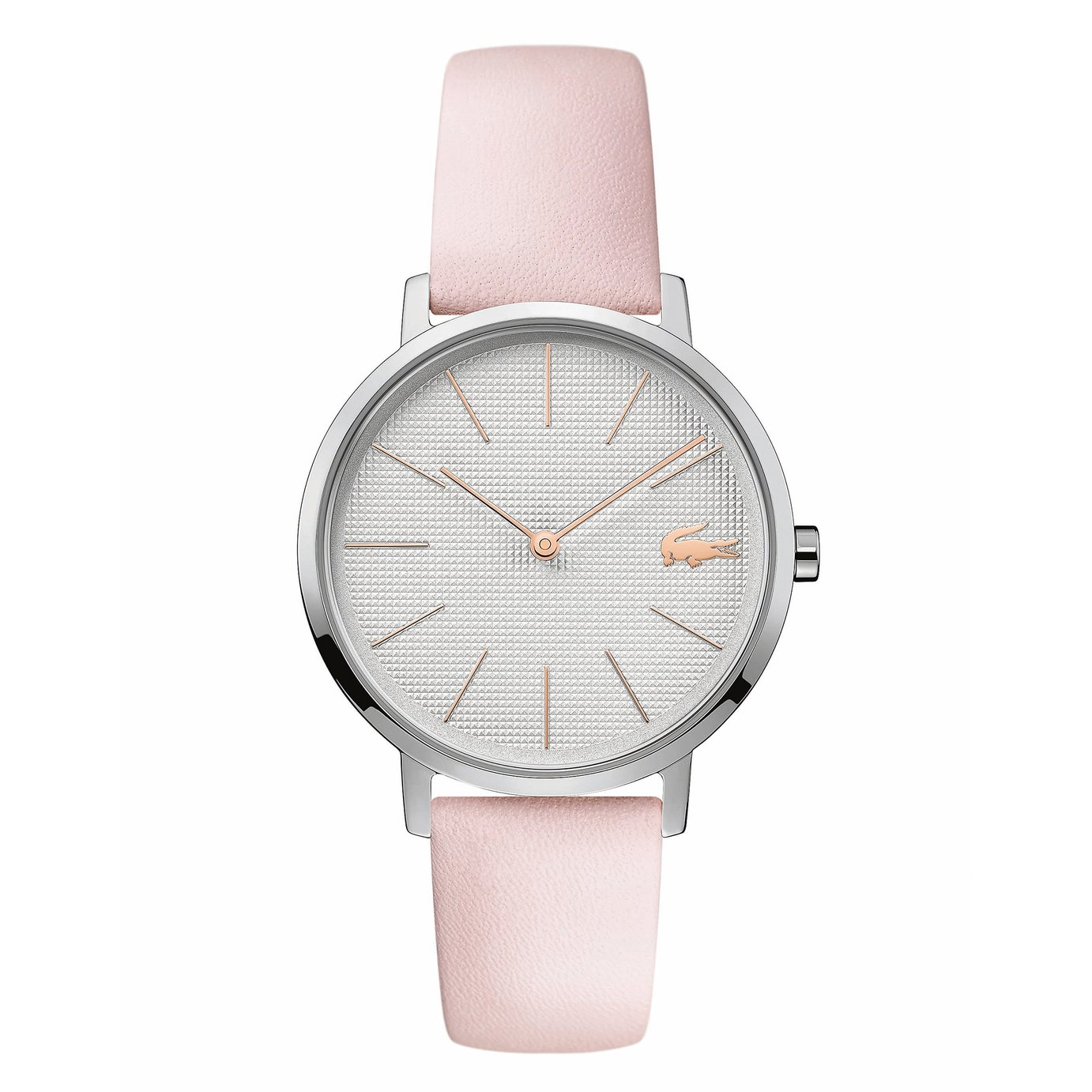 Lacoste Ladies Pink Leather Strap Watch
