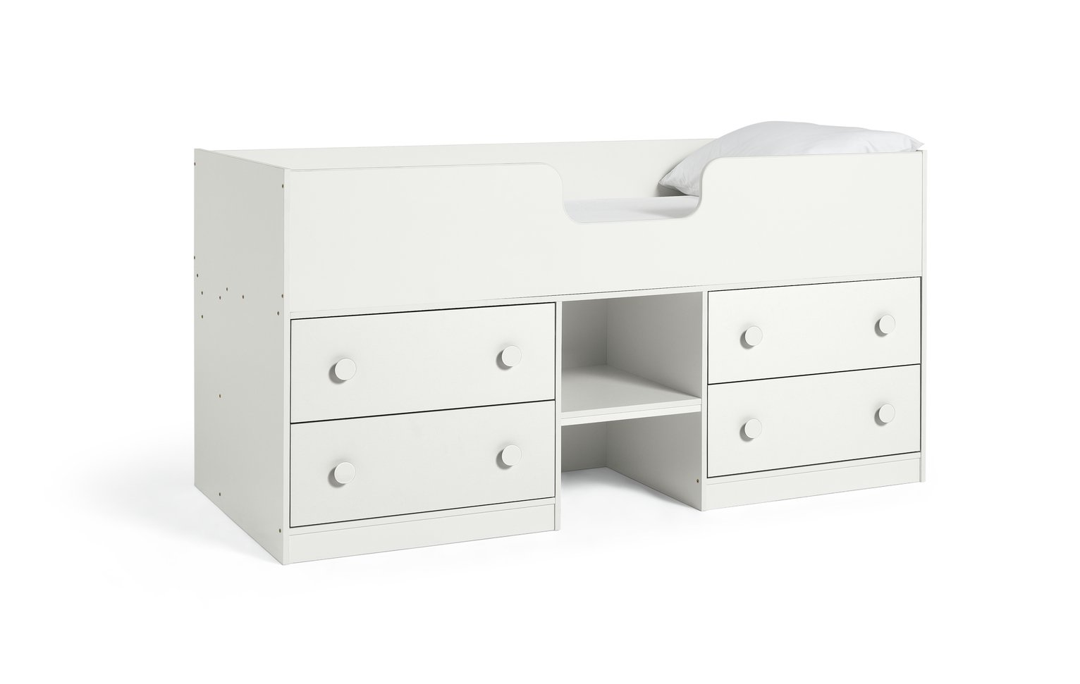 Argos Home Jackson White Shorty Cabin Bed & Mattress