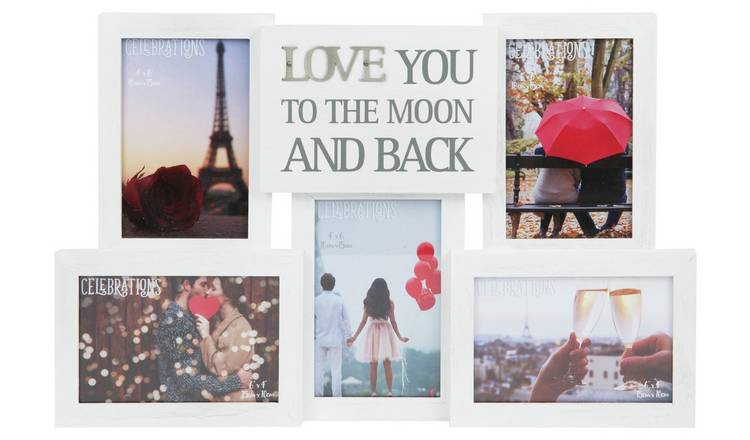 Love You To The Moon and Back Multi Aperture Photo Frame