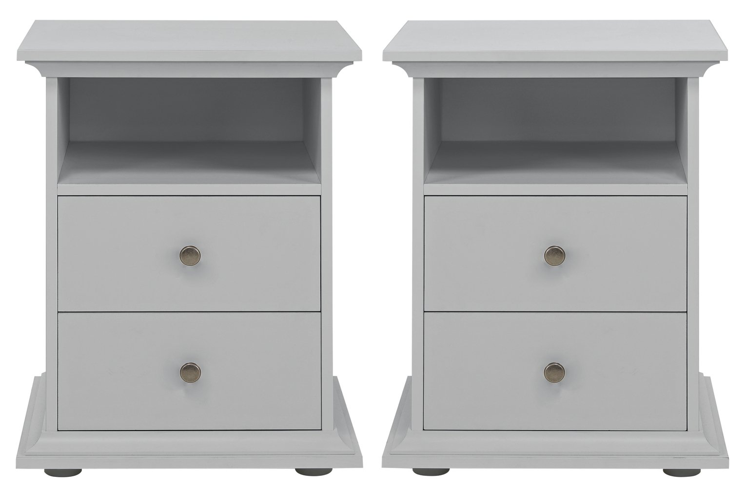 Argos Home Heathland 2 Bedside Tables Set - Grey