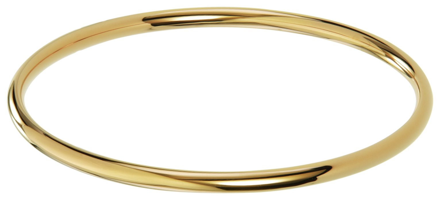 Inara Yellow Gold Plated Ceramic Bangle
