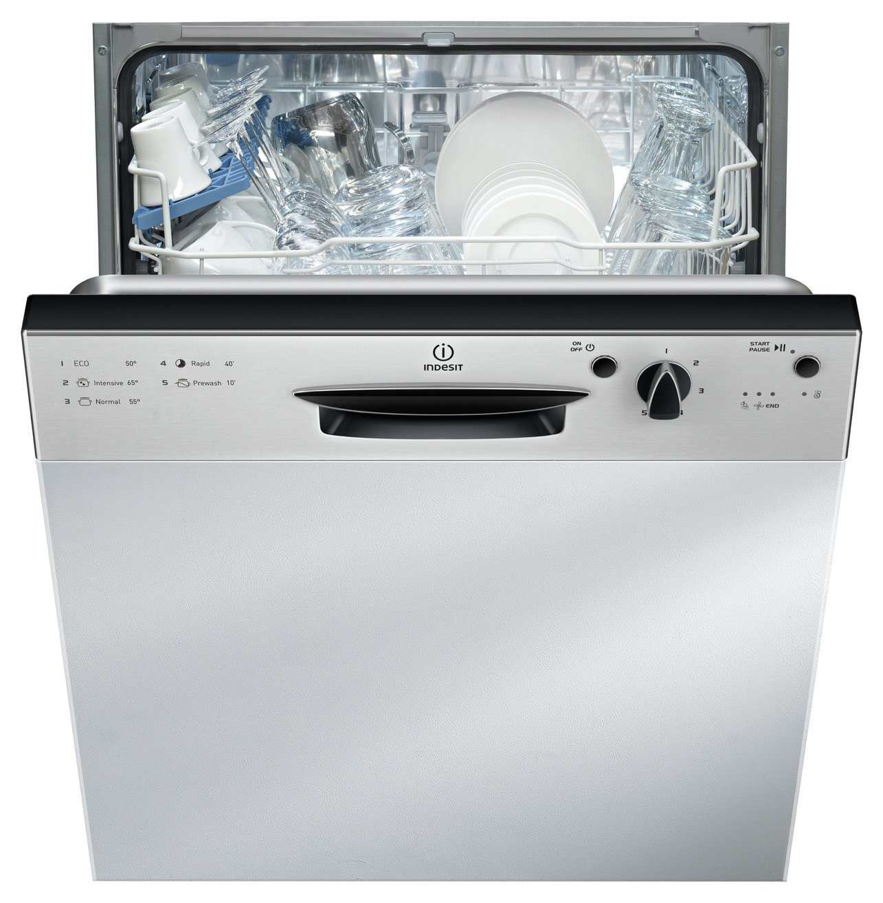 Indesit DPG15B1NX Semi-Integrated Dishwasher - S/Steel