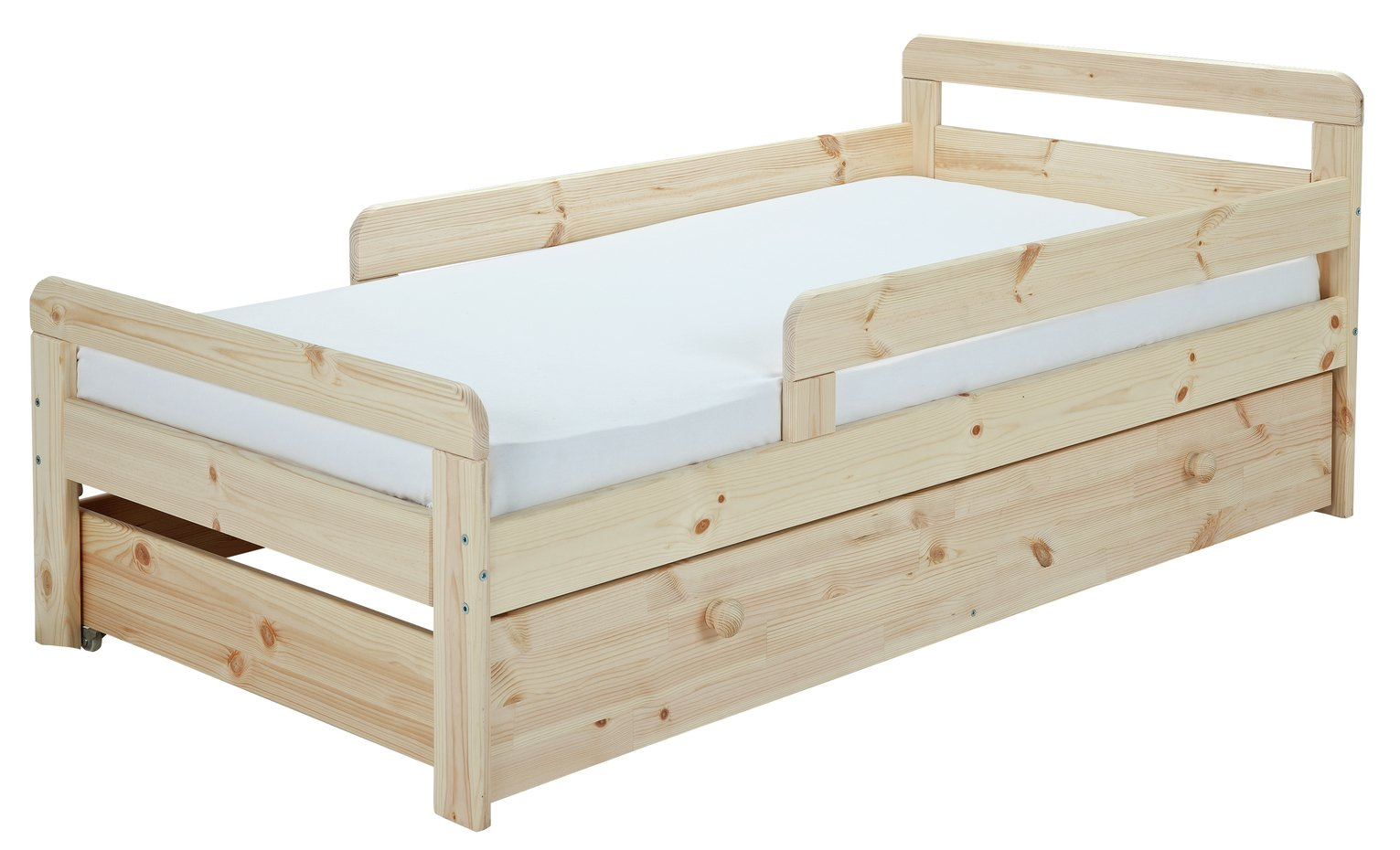 Argos Home Ellis Pine Toddler Bed, Drawer & Kids Mattress