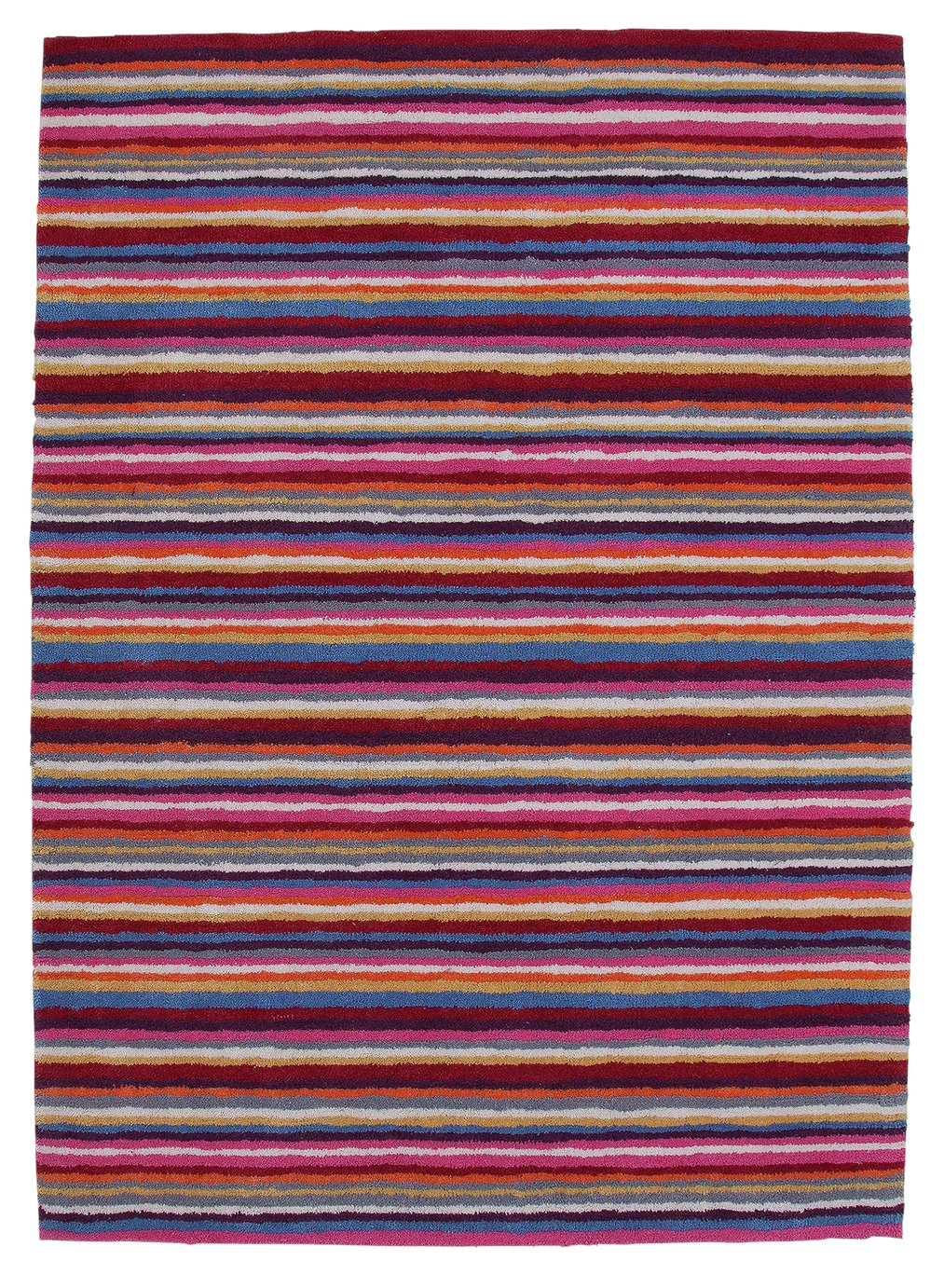 Argos Home Multi-Stripe Rug - 120x160cm