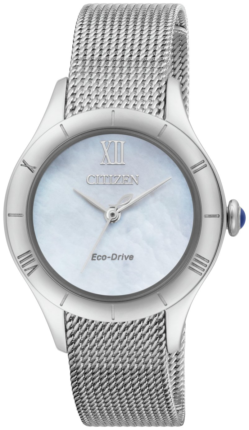 Citizen Ladies Silver Stainless Steel Mesh Strap Watch