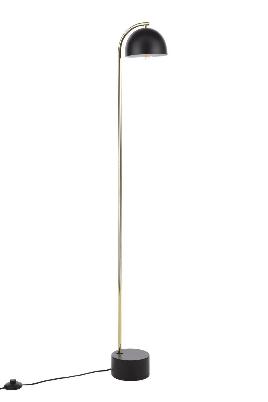 Habitat Ivar Floor Lamp - Black and Brass