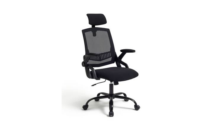 Argos Home Milton Mesh Ergonomic Office Chair - Black