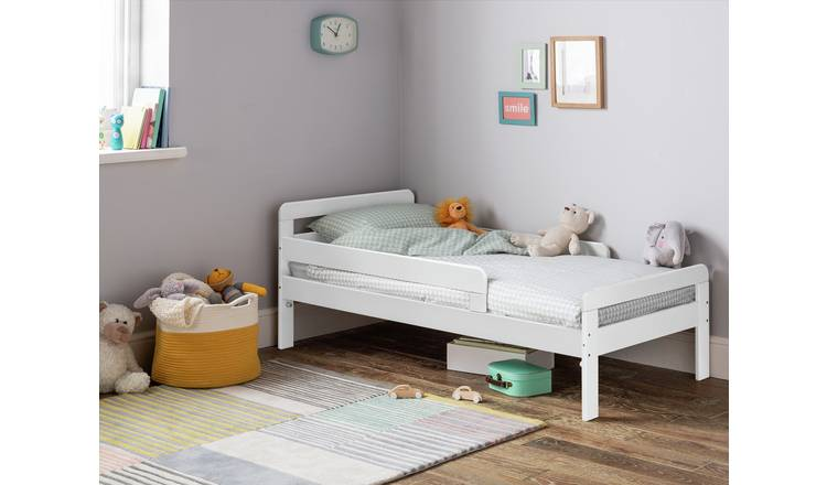 Argos Home Ellis Toddler Bed and Kids Mattress - White