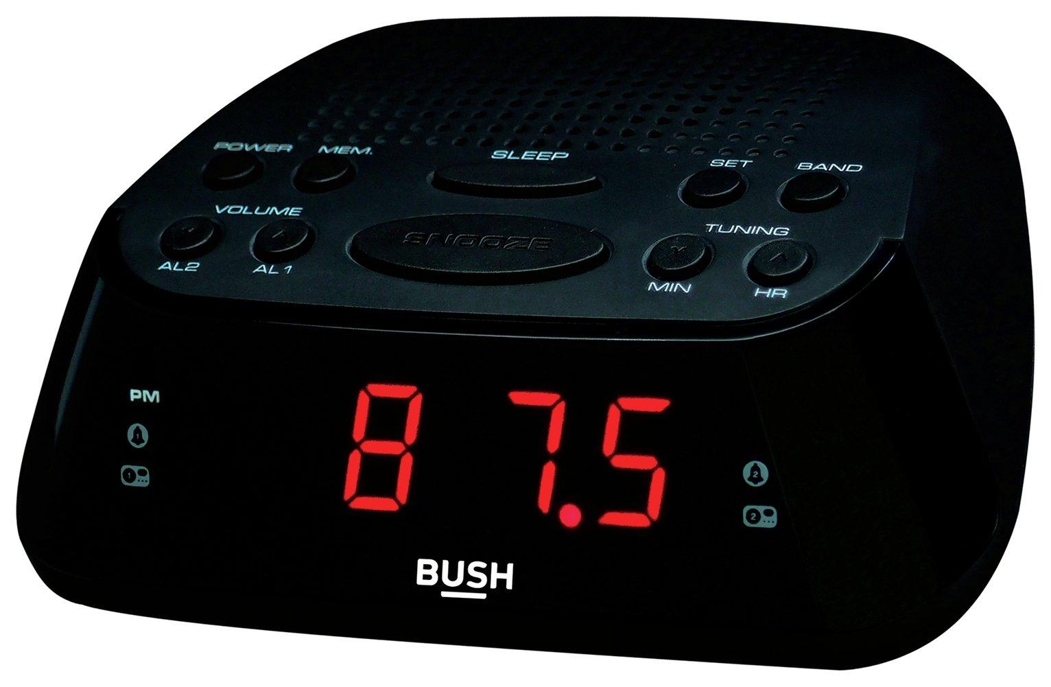 Bush Clock Radio - Black / Silver