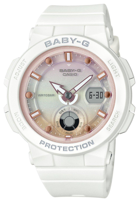 Casio Baby G Ladies White Resin Strap Watch
