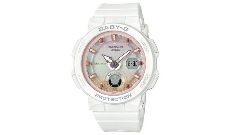 Casio Ladies Baby G White Resin Strap Watch