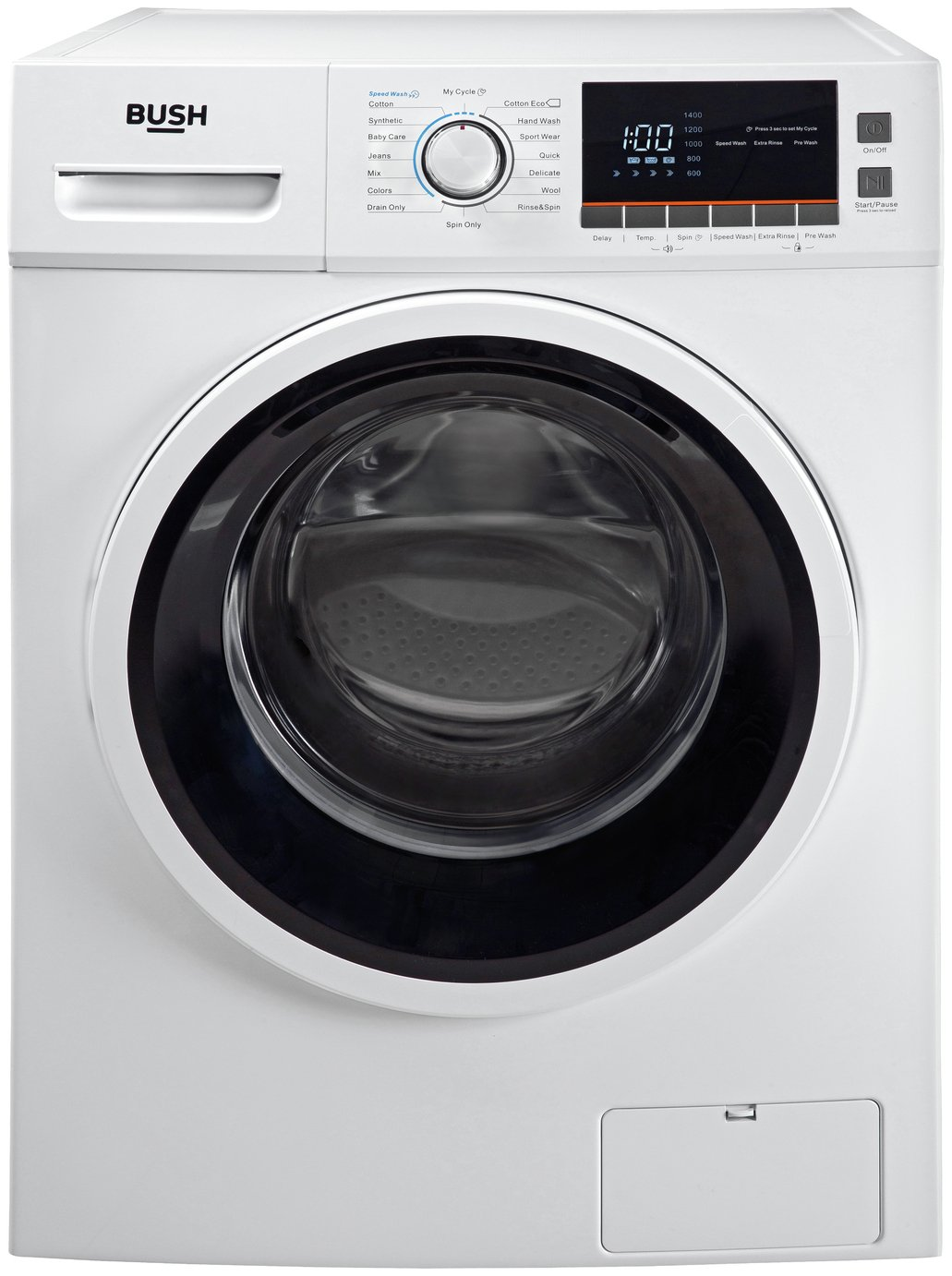 Bush WMNBX814W 8KG 1400 Spin Washing Machine - White Best Price, Cheapest Prices