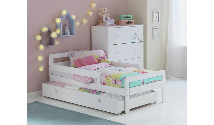 Argos Home Ellis Toddler Bed, Drawer & Kids Mattress - White