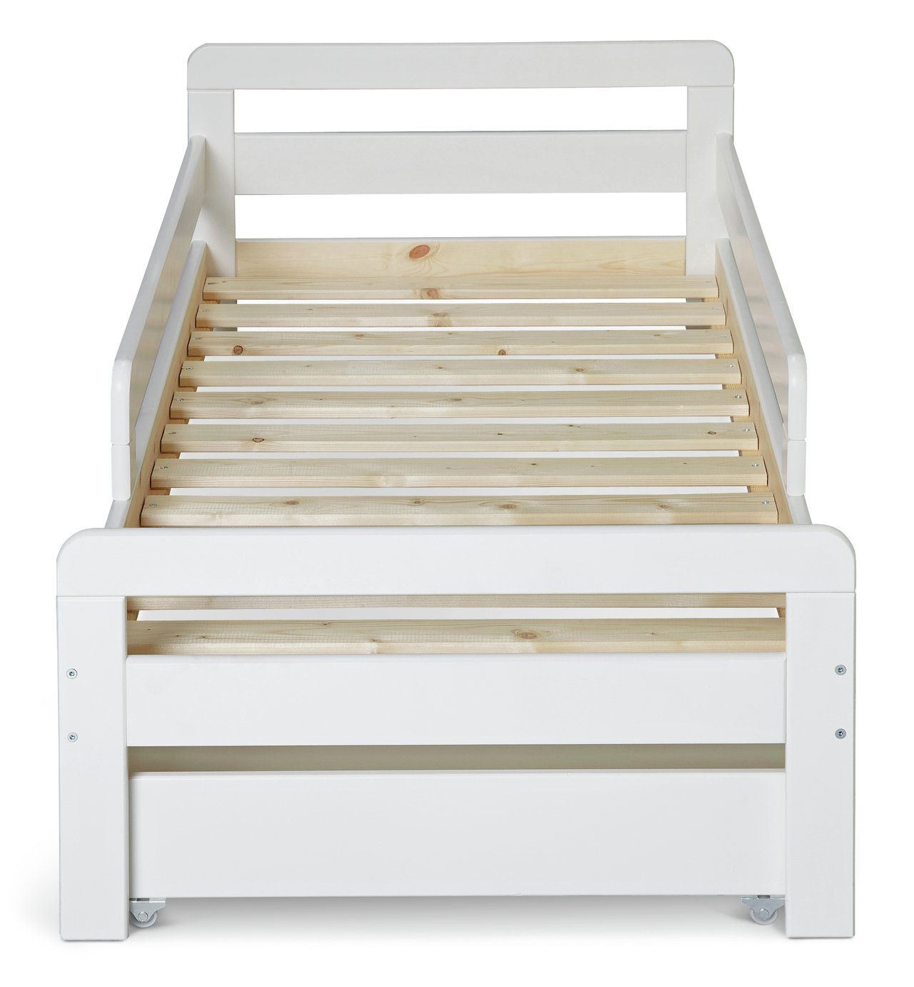 Argos Home Ellis White Toddler Bed, Drawer & Kids Mattress ...