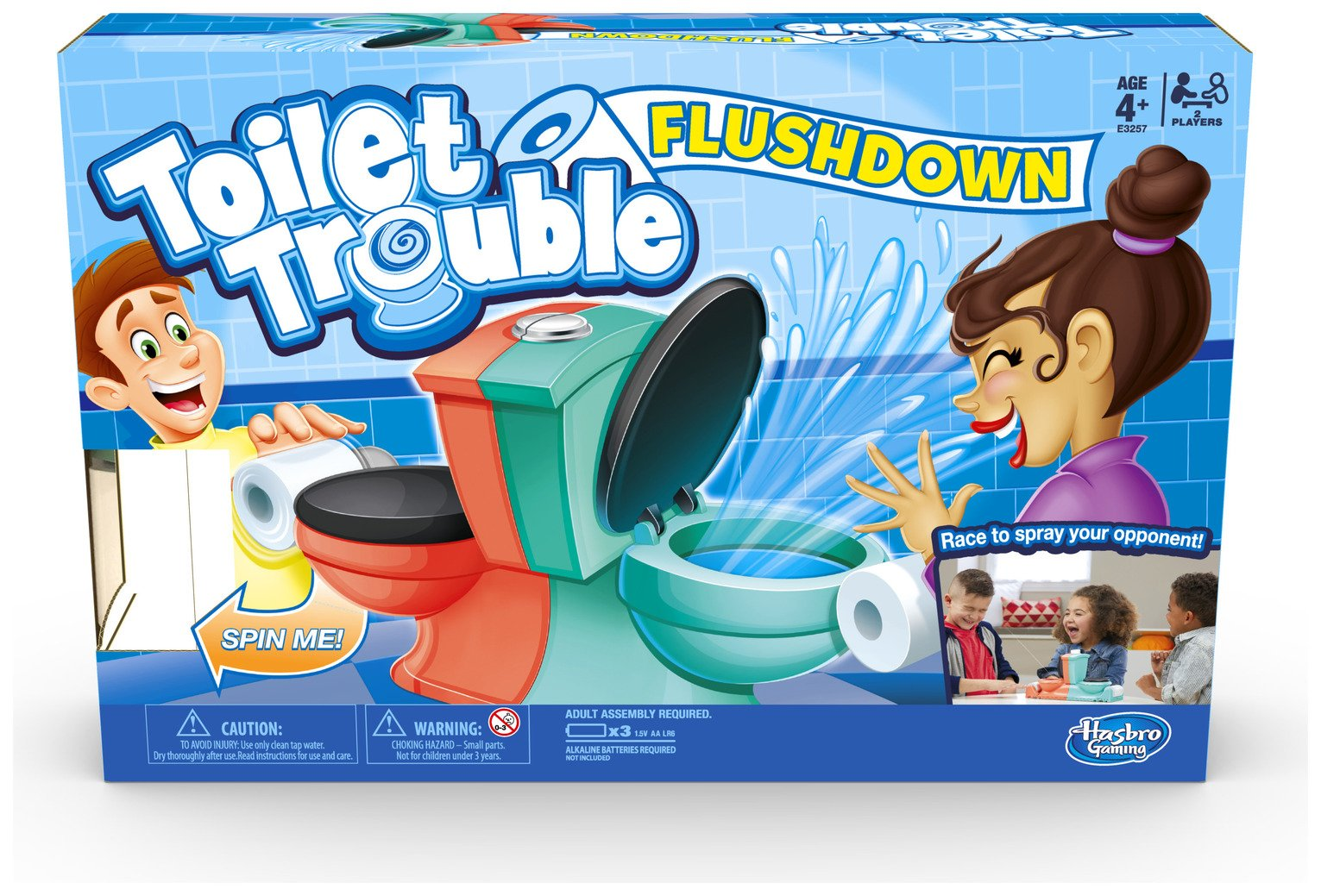 Toilet Trouble Flushdown Kids Game from Hasbro Gaming