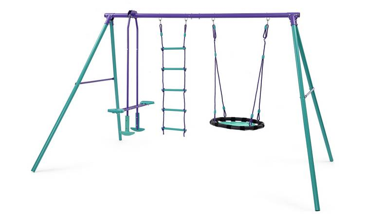 Plum Kids Garden Nest, Glider and Rope Ladder Swing Set