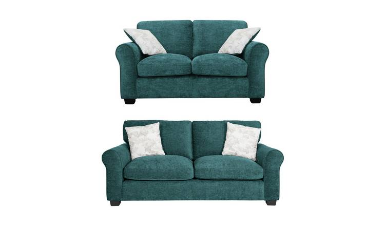 Astonishing Buy Argos Home Tammy Fabric 2 Seater And 3 Seater Sofa Teal Sofa Sets Argos Inzonedesignstudio Interior Chair Design Inzonedesignstudiocom