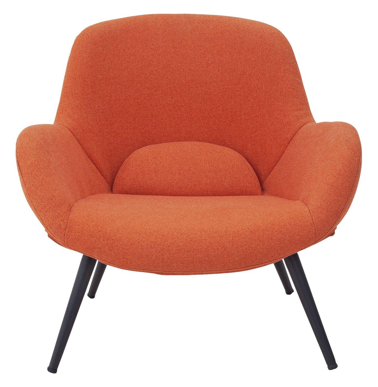 Argos Home Ollie Fabric Accent Chair - Orange