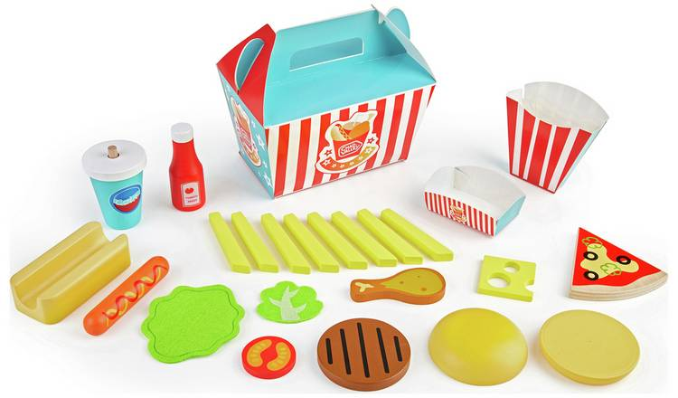 Chad Valley Wooden Burger Gift Set