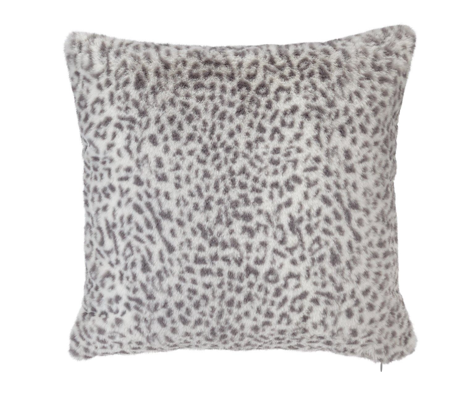 Argos Home Animal Print Cushion - Grey