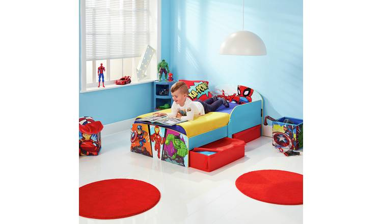 Marvel Avengers Toddler Bed with Drawers and Mattress