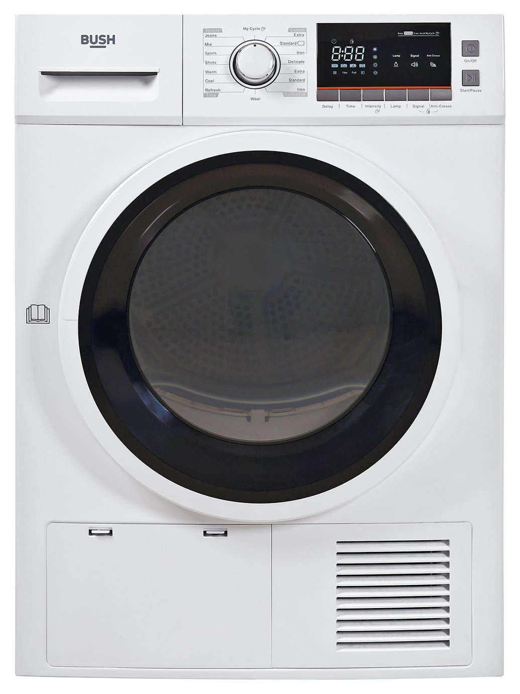 Bush TDNBX8HP 8KG Heat Pump Tumble Dryer - White