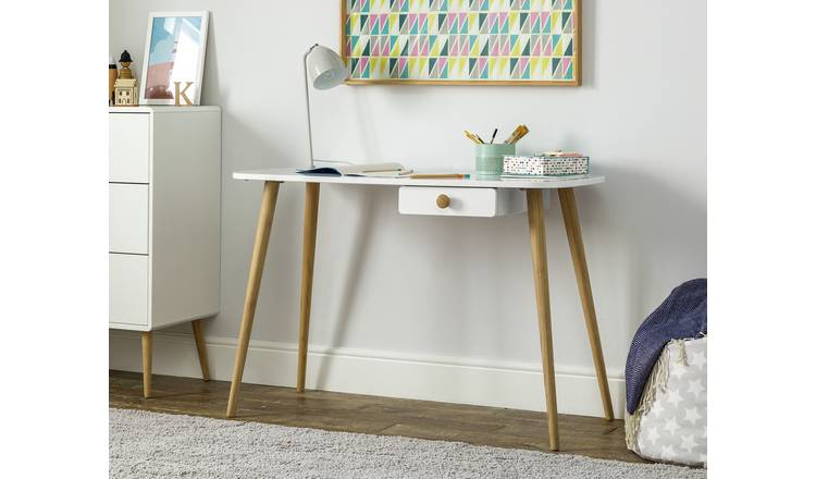 Argos Home Bodie 1 Drawer Desk - White