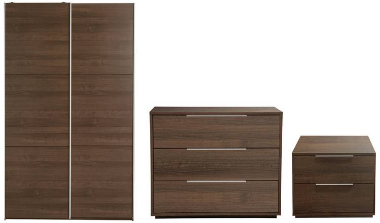 buy online 3276a 7eb0b Buy Argos Home Holsted 3 Piece Small Wardrobe Set -Walnut Effect | Bedroom  furniture sets | Argos