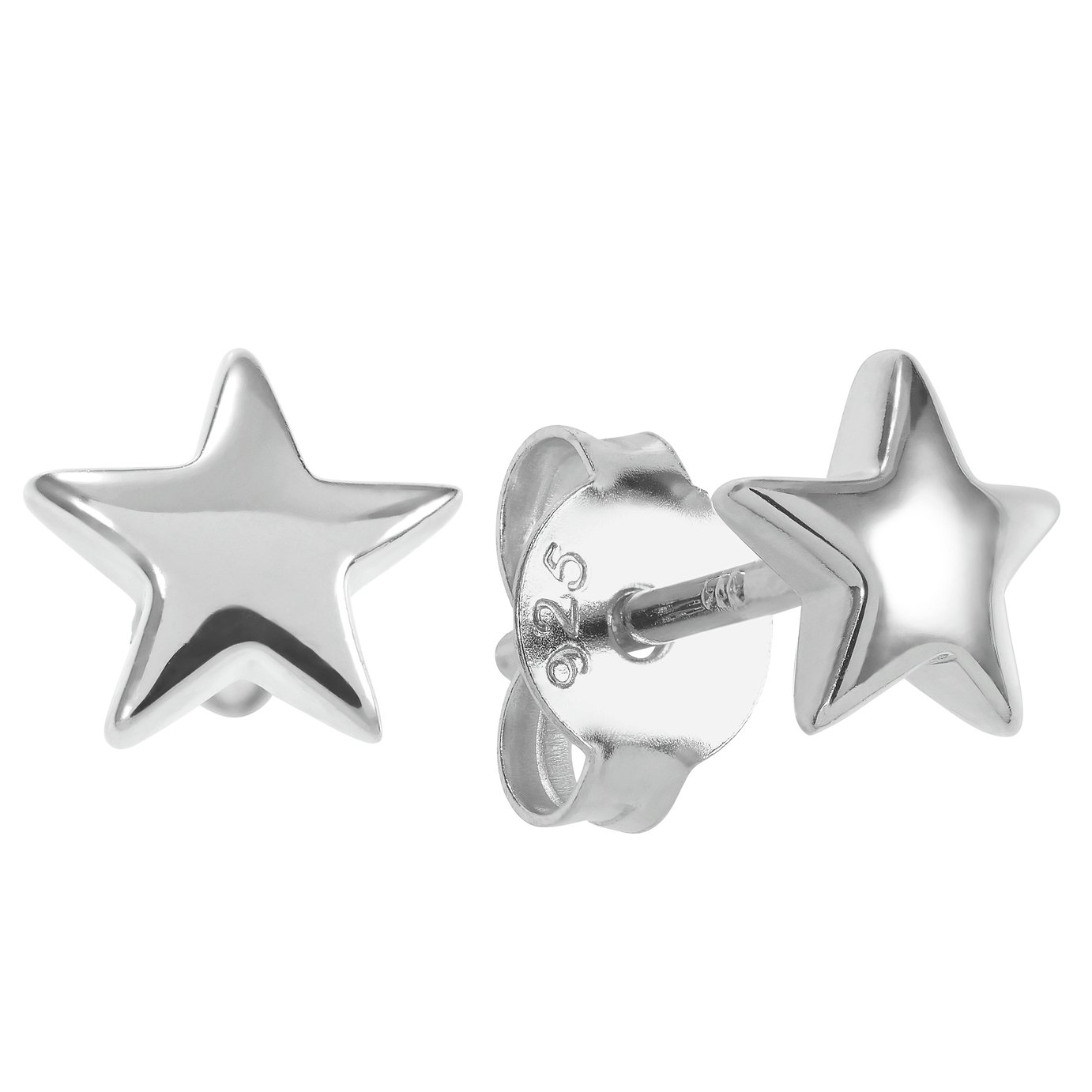 Revere Sterling Silver Star Stud Earrings