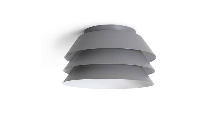 Habitat 3 Tier Flush to Ceiling Light - Grey