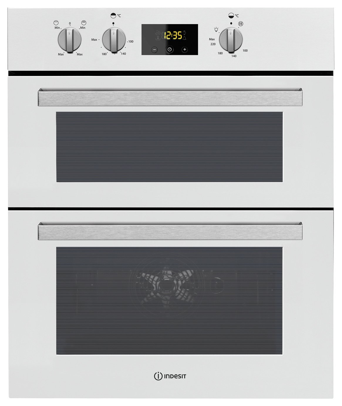 Indesit IDD6340 Built In Double Electric Oven - White