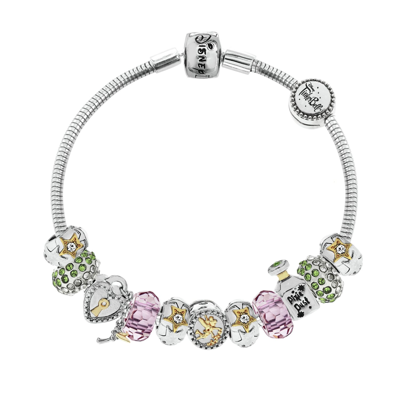Disney Tinkerbell Made Up Charm Bracelet